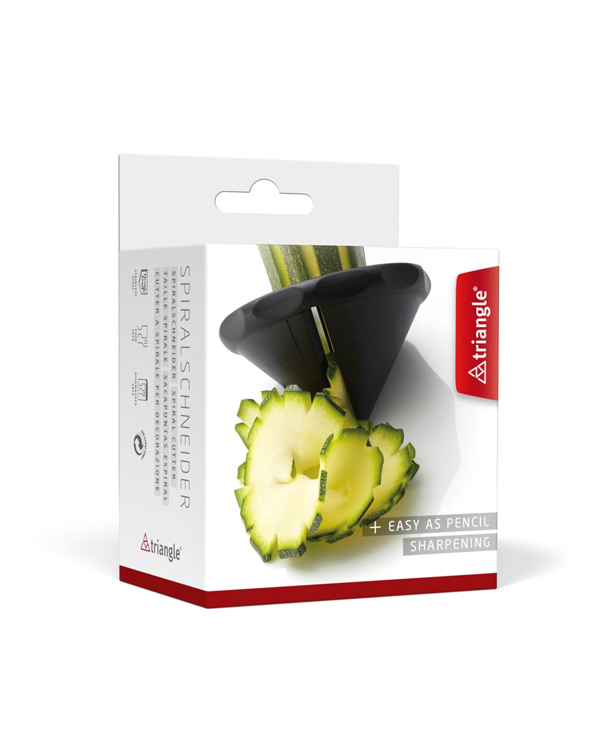 triangle Spiralschneider für Gurke Spiralen Rettich Radi Gemüsespitzer Spirelli im Karton Verpackung
