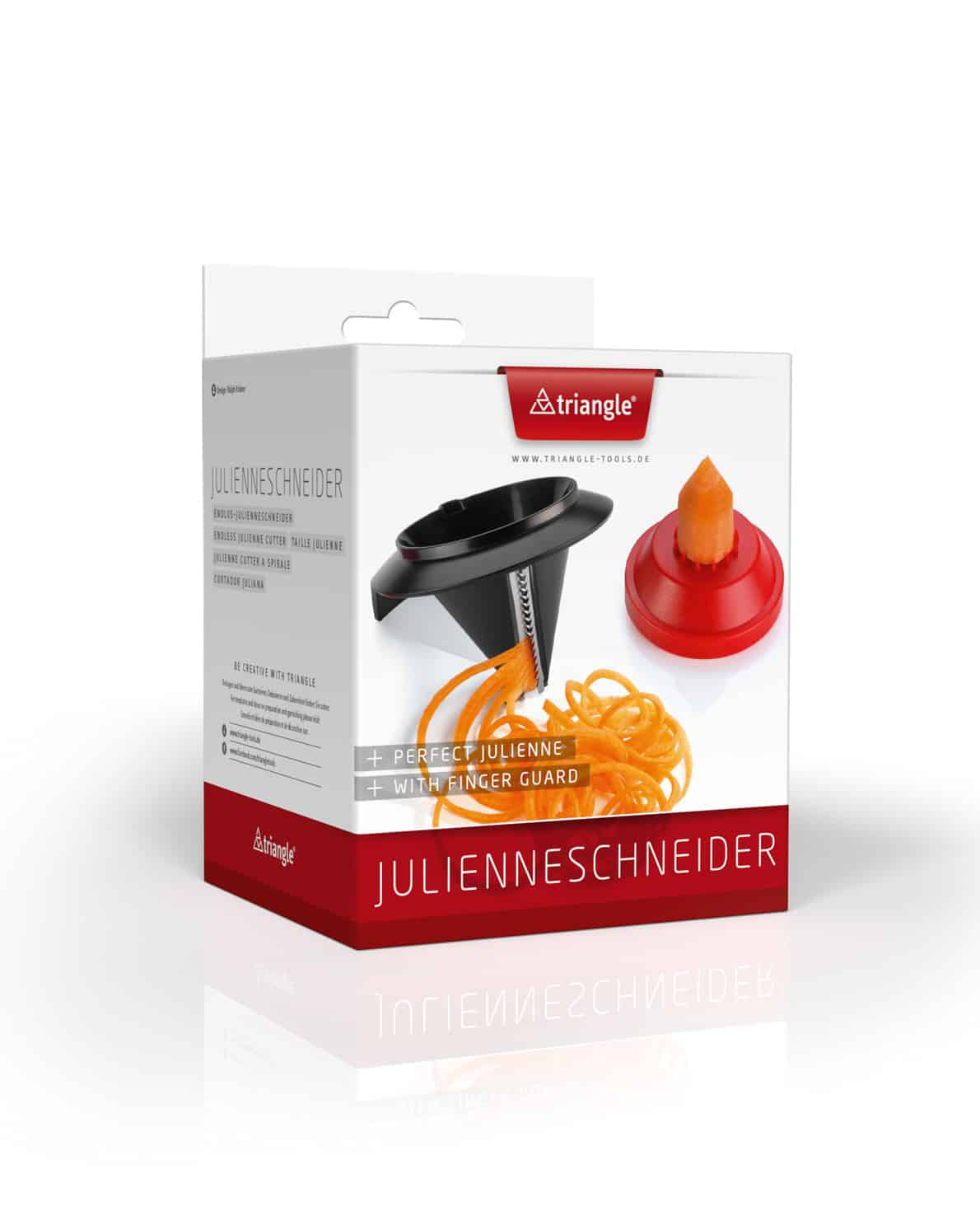 triangle Endlos-Julienneschneider Spirelli Gemüsespaghetti Streifenschneider Gemüsespitzer Zoodles