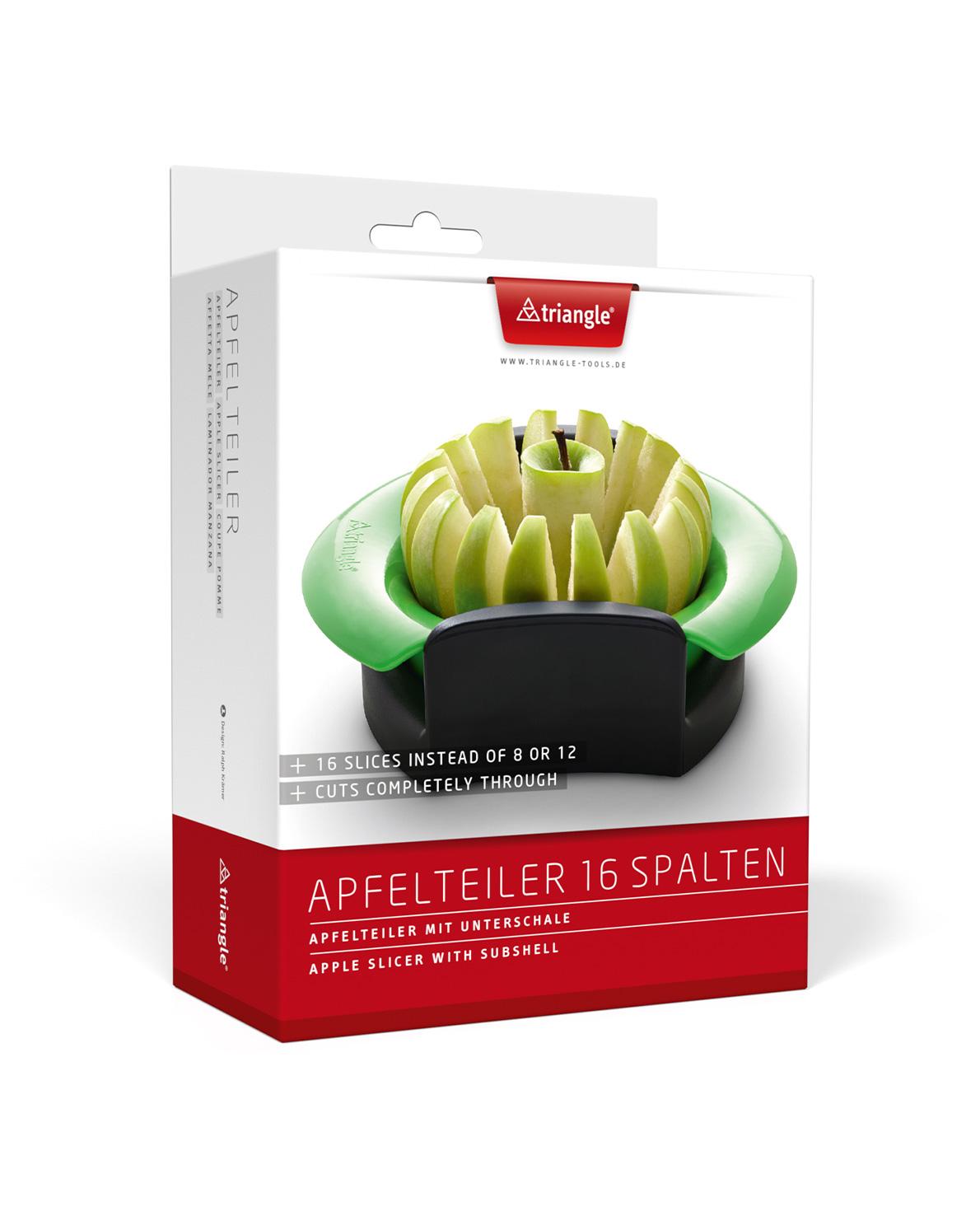 triangle Apfelteiler für 16 Spalten Scheiben extra dünn für Apfelkuchen schneidet komplett durch