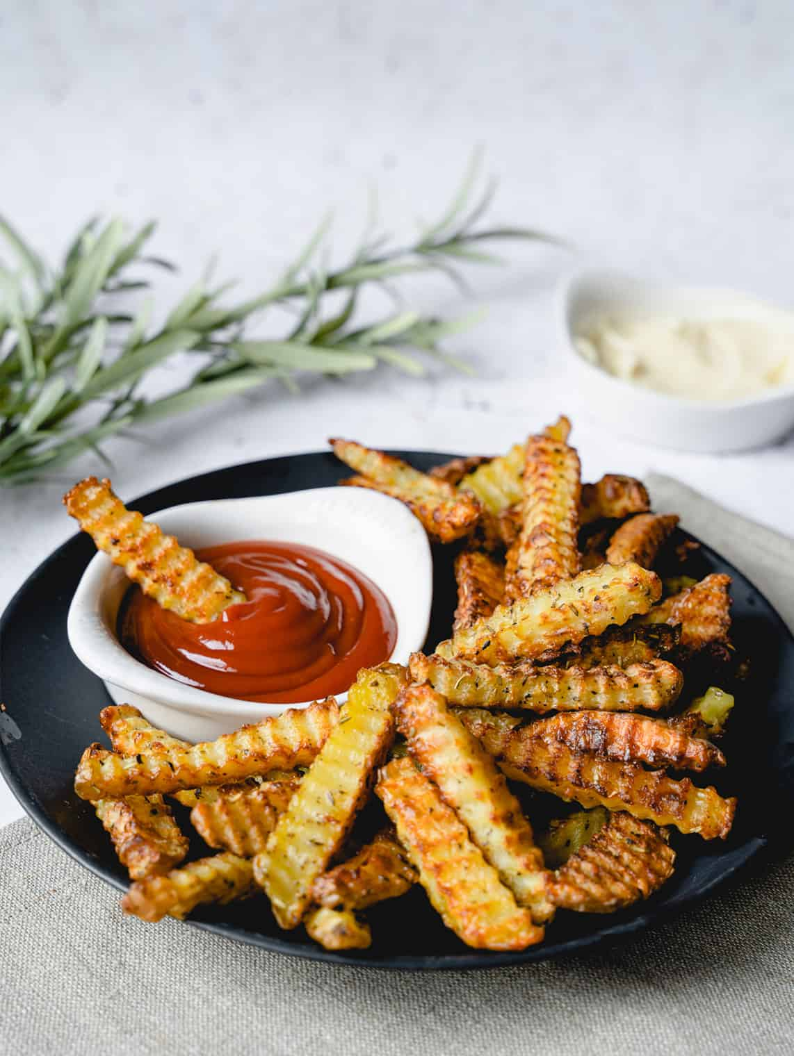 triangle crinkle cutter fries