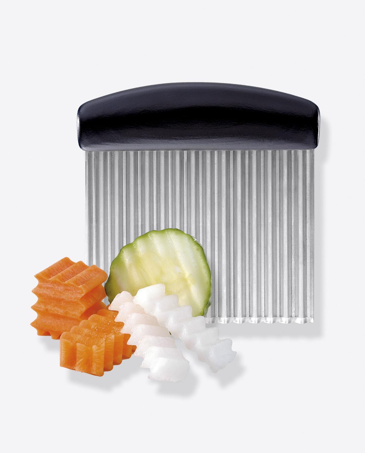 triangle Wellenschneider für Obst und Gemüse Buntmesser Dekoriermesser