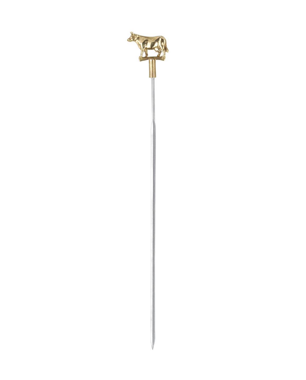triangle Grillspieß Rind Kuh Ochse mit Bronzekopf Made in Germany spitz Edelstahl flach