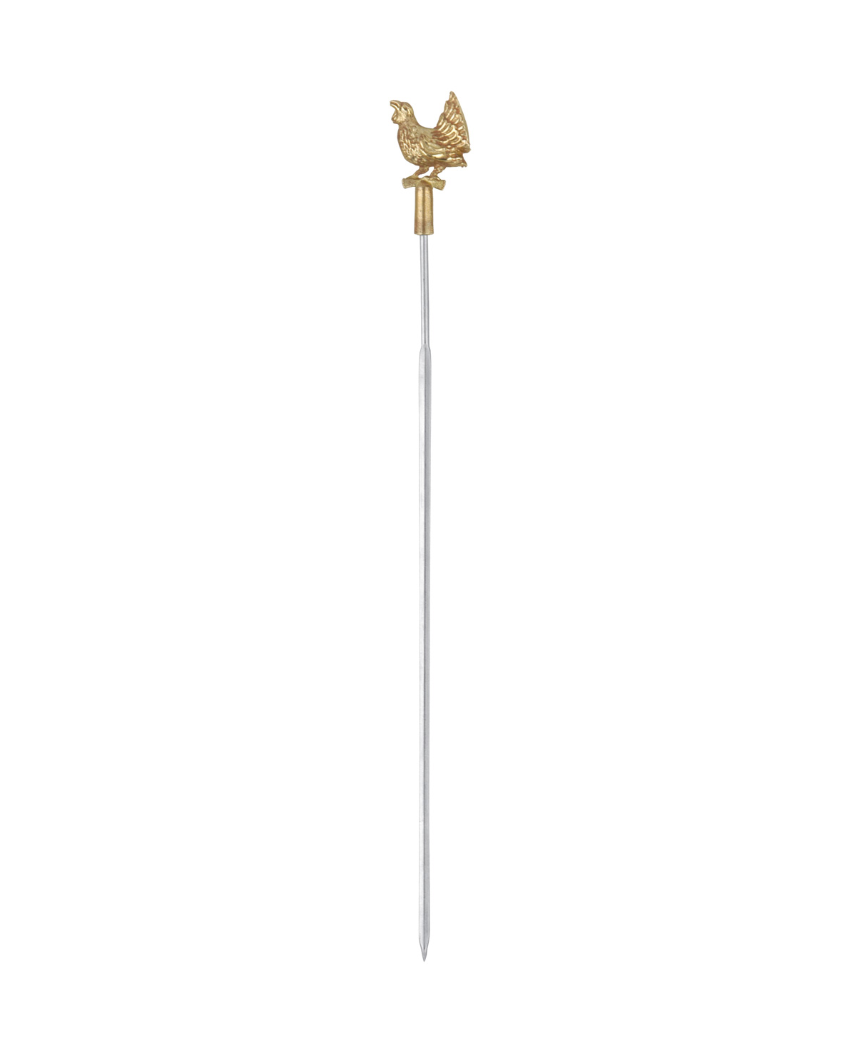 triangle Grillspieß Auerhahn mit Bronzekopf Made in Germany spitz Edelstahl flach