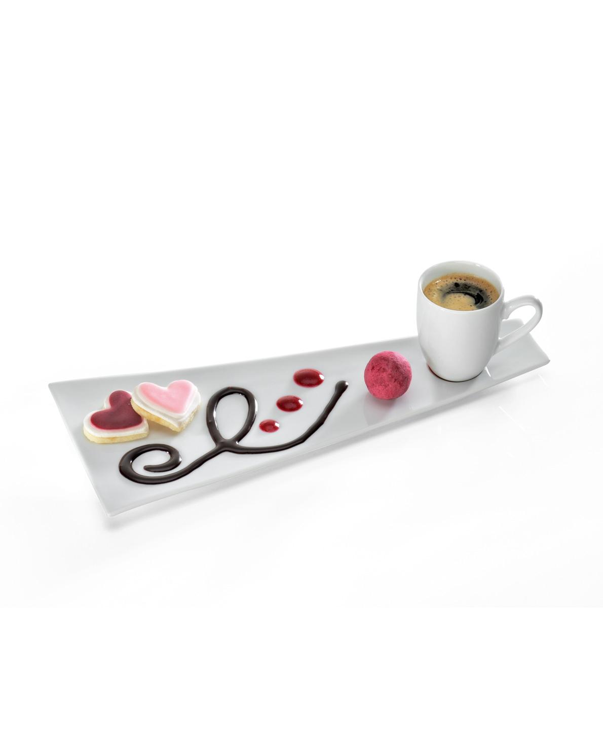 triangle Art Spoon Dekorierlöffel zeichnen schreiben mit Lebensmitteln SoßeTellerdekoration