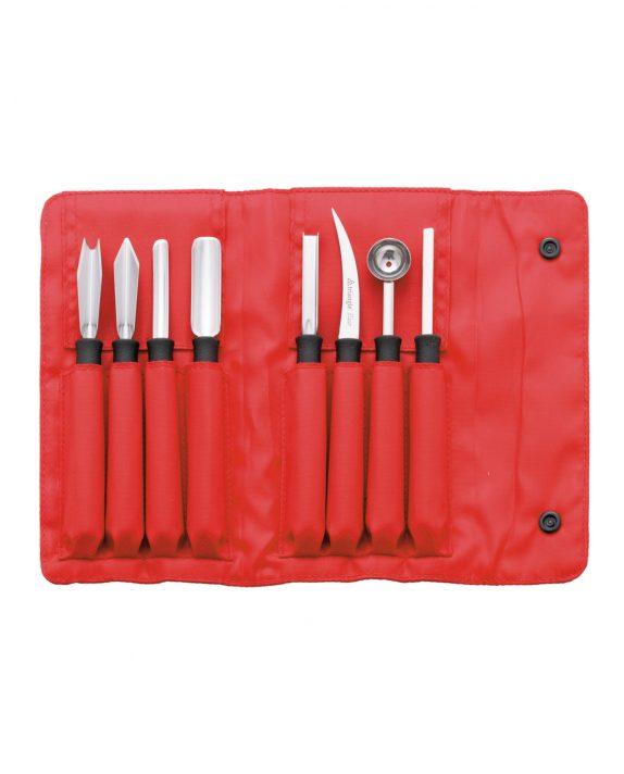 Schnitzmesser-Set Professional von triangle zum Schnitzen von Obst und Gemüse kulinarisch fortgeschrittene carving 8-teilig