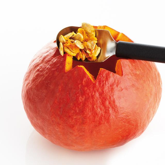 triangle Fruchtlöffel Kürbislöffel Löffel aushöhlen scharfe Kante geschärft Eislöffel Aushöhllöffel Auskratzen Kerne entfernen Eisportionierer Melone Papaya