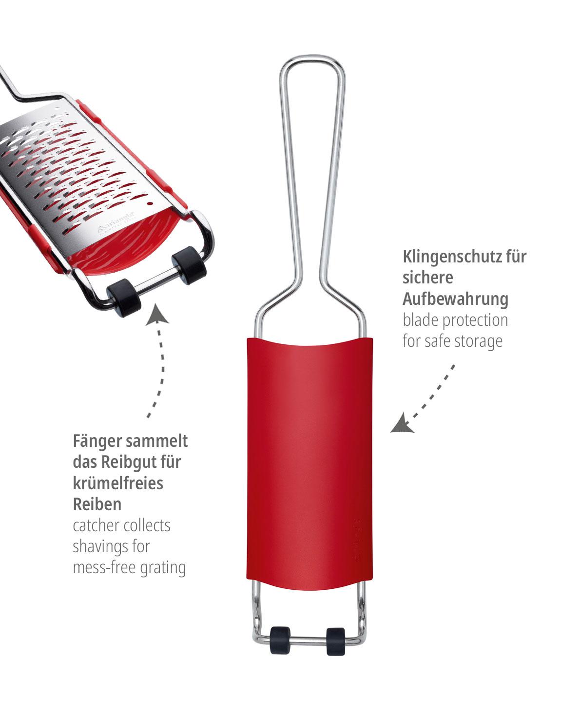 triangle 2-in-1 Fänger und Klingenschutz für Reiben Auffangbehälter Fangbehälter Klingencover