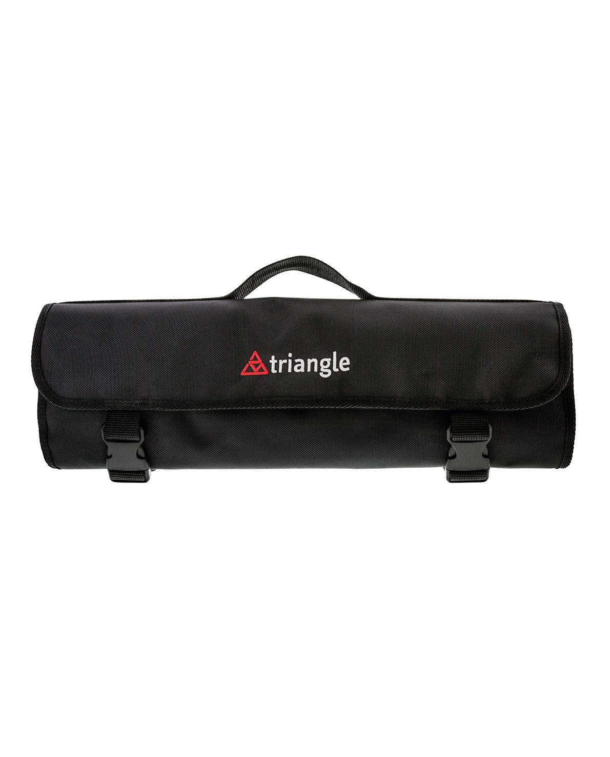 triangle Kochschultasche Messertasche groß viel Platz Rolltasche schwarzgeschlossen gerollt