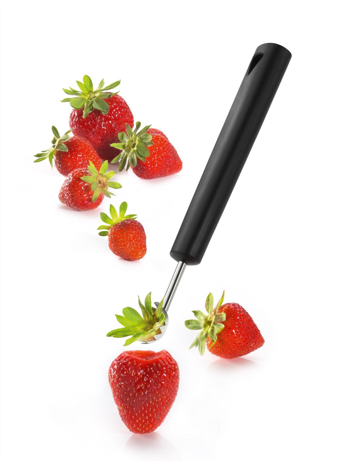 triangle Tomatenentstieler mit Erdbeeren Erdbeerentstieler Strunkentferner Spirit