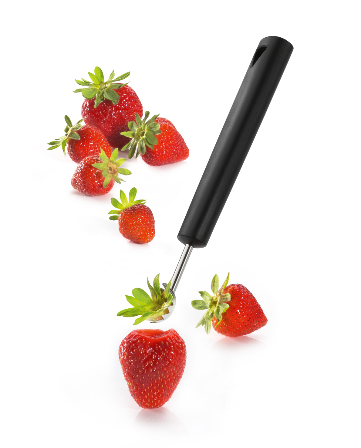 triangle tomato huller with strawberries