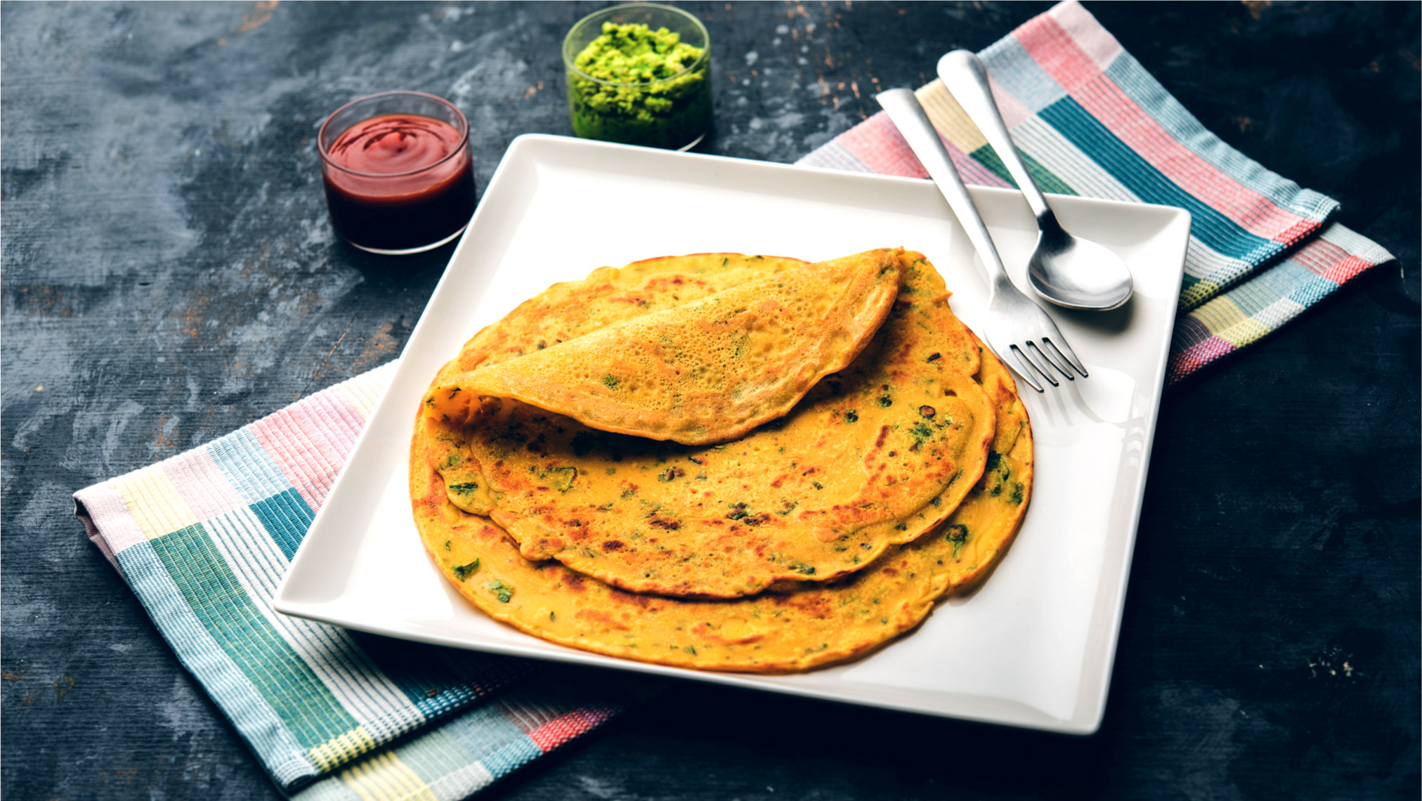 BEsan ka Chilla Cheela Rezept indische Gemüse Pfannkuchen vegan glutenfrei ohne Ei