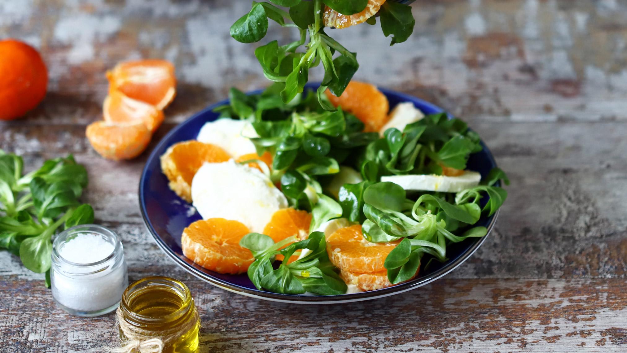 Feldsalat Orange Mozzarella