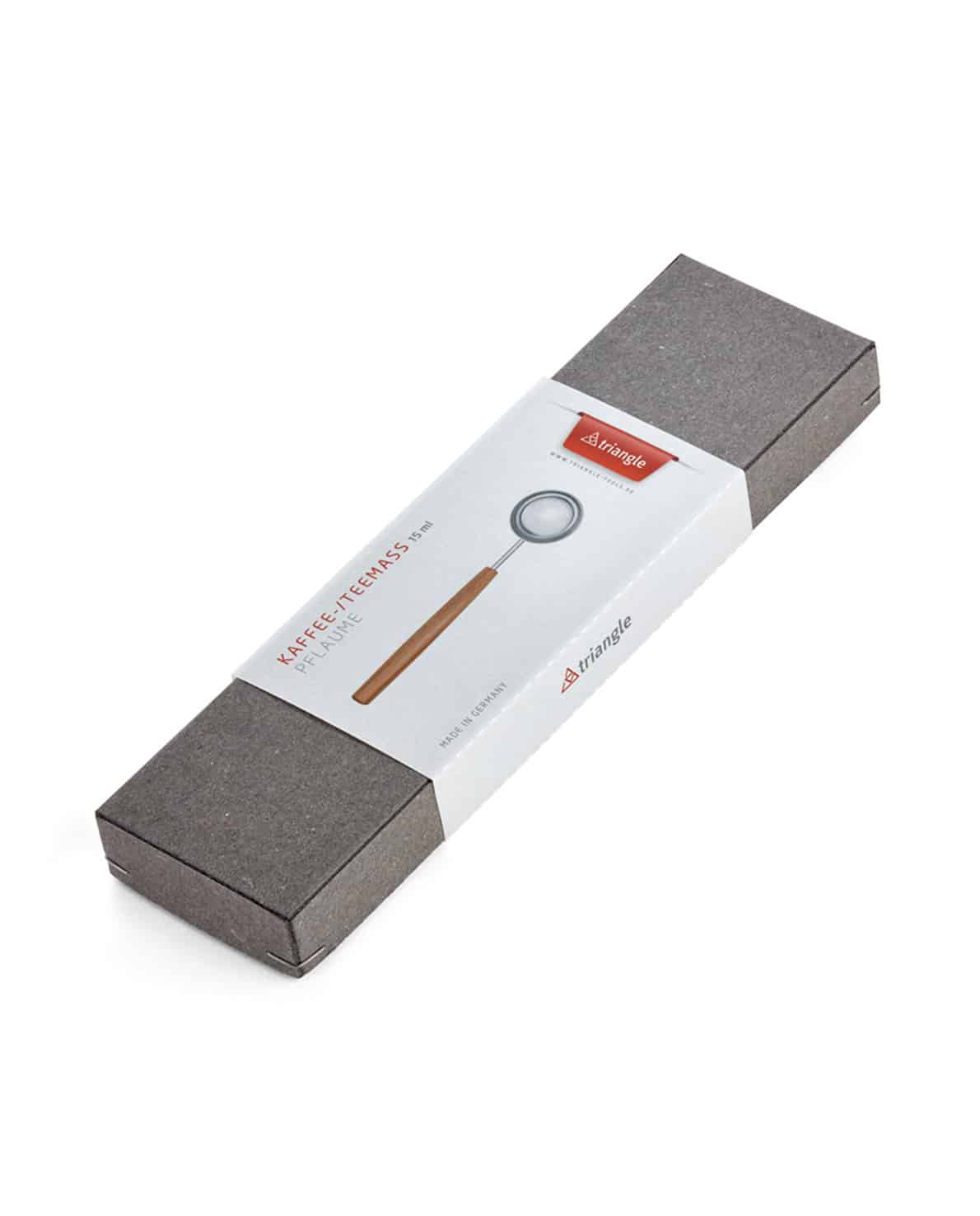 triangle Kaffemaß und Teemaß im Geschenkkarton Holu Soul Holzgriff Pflaume Holz