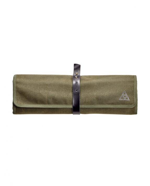 triangle Kochtasche aus natürlich gewachstem Baumwoll Canvas Messertasche Culinary Bag Reise Ferienhaus Küchenhelfer Messer mitnehmen schützen